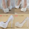 รองเท้าเจ้าสาวสีขาว ไซต์ 34-40 สูง 5.6 / 4.4 / 3.2 นิ้ว