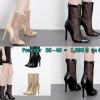 รองเท้าส้นสูงทรงบูทยาวสีดำ/ครีม ไซต์ 35-40