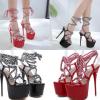 รองเท้าส้นสูงสายเชือกถักสีดำ/แดง ไซต์ 34-40