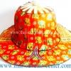 หมวกพัด ไอเดียของที่ระลึก แบบ 20 สีส้ม