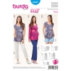 แพทเทิร์นตัดเสื้อคลุมท้อง กางเกงคนท้อง Burda Style (ุุ6607) ไซส์: 6-8-10-12-14-16-18-20