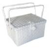 ตะกร้าสานพลาสติก กระเป๋าสานพลาสติก PNM-wh กว้าง 25 cm. ยาว 35 cm. สูง 21 cm.