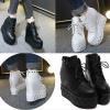 รองเท้าบูทส้นเตารีดสีดำ ไซต์ 35-38