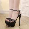 รองเท้าส้นสูงส้นเข็มสีดำ ไซต์ 34-40