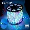 ไฟสายยาง LED (ท่อกลม) 100 m สีรวม