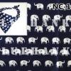 NC108 ผ้าพันคอลายช้าง ผืนใหญ่ใช้คาดหัว พันคอ