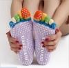 ถุงเท้าโยคะ คุณภาพสูง สีม่วงอ่อน