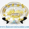 ของพรีเมี่ยม ของที่ระลึกไทย จานโชว์ แบบที่ 71 Size M สีเงินลายทอง