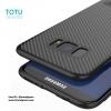 Samsung Galaxy S8 Plus - เคส TPU ลายเคฟล่า Carbon พร้อมขาตั้ง TOTU DESIGN แท้
