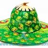 หมวกพัด ไอเดียของที่ระลึก แบบ 3 สีเขียว