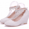 รองเท้าเจ้าสาวสีขาวมุข ไซต์ 34-41