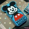 iPhone 5 / 5s / SE - เคสนิ่ม ซิลิโคน ลาย Mickey Mouse พื้นหลังสีฟ้า