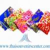 ของขวัญให้ผู้ใหญ่ กระเป๋าสตางค์ลายไทย (แพ็ค 10 ชิ้น คละสี) แบบ 16 ลายดอกไม้