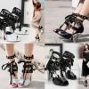 รองเท้าส้นสูงสีดำ/ดำ-ขาว ไซต์ 34-39