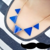 สร้อยคอแฟชั่น รูปสามเหลี่ยมหลากสี พร้อมส่ง