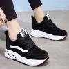 รองเท้าผ้าใบเสริมส้นสีดำ ไซต์ 35-39