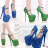 รองเท้าส้นสูงสีเขียว/น้ำเงิน ไซต์ 34-43