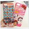 iPhone 5 / 5s - เคสแข็ง แบบใส ลาย Kitty & Milky
