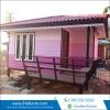 mobile home : ทรงปั้นหยา ขนาด 3*4 เพิ่มระเบียง