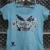 เสื้อยืดแฟชั่นสีฟ้า ลายกระต่าย สกรีน Playboy