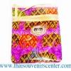 ของฝากจากไทย กระเป๋าสะพายลายช้างผ้าถุงสายหนัง แบบ 8 สีม่วง