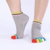 ถุงเท้าโยคะ หุ้มนิ้ว สีเทา