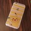 iPhone 6, 6s - เคสใสลายปิกาจู Pikachu Stripes Pokemon