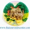 สินค้าที่ระลึก จานโชว์เรซิ่น แบบ 24 ลายช้างไทย
