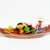 ของขวัญไทย งานปั้นดินไทย-เรือแจวขายผลไม้ XL