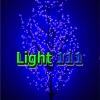 ไฟต้นไม้ ซากุระ 1.8 m 672 led สีฟ้า