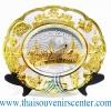 ของพรีเมี่ยม ของที่ระลึกไทย จานโชว์ แบบที่ 66 Size M สีเงินลายทอง