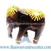 ของขวัญเกษียณอายุ ช้างแกะสลัก ช้างทรงเครื่องเดินเส้น แบบ L (5 นิ้ว)