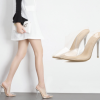 รองเท้าส้นสูงแบบสวมปลายแหลมพลาสติกใส ไซต์ 35-40