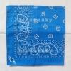 ผ้าพันคอBandannasไซส์บิ๊ก 28นิ้ว สีฟ้า