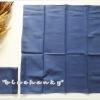 ผ้าเช็ดหน้าสีพื้น สีน้ำเงิน