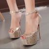 รองเท้าส้นสูง ไซต์ 35-39 สีเงิน สีทอง