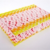ตะกร้าสานพลาสติก กระเป๋าสานพลาสติก 4MF-ส้ม กว้าง 24 cm. ยาว 34 cm. สูง 10 cm