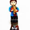 ของขวัญที่ระลึก ตุ๊กตาชุดไทย 4 ภาค แบบยืน 3 เด็กสวัสดี