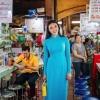 ชุดเวียดนามผู้หญิง สีฟ้าน้ำทะเล (งานสั่งตัดพิเศษ)