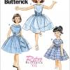 แพทเทิร์นตัดชุดเดรสเด็กหญิง Butterick 6315 Size: 2-3-4-5