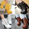 รองเท้าบูทสีเหลือง/ดำ/น้ำตาล/ขาว ไซต์ 34-43
