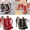 รองเท้าส้นสูงสีแดง/ดำ ไซต์ 35-40