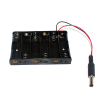 รางถ่าน AA ขนาด 6 ก้อน 9V พร้อมแจ๊กถ่าน สำหรับ Arduino 6 pcs AA Battery case for arduino