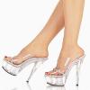 รองเท้าส้นแก้วใสแบบสวม ไซต์ 34-46