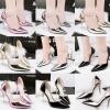 รองเท้าคัดชูทรงเว้าข้างหนังเงาเมทาลิคสีดไ/ทอง/เงิน/เทา/ชมพู ไซต์ 34-39