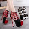 รองเท้าส้นสูง ไซต์ 34-39 สีแดง สีขาว