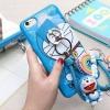 iPhone 6, 6s - เคสพวงกุญแจ Doraemon + i-ring โดเรม่อน