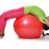 ลูกบอลโยคะ ป้องกันการระเบิด (Fitness Ball) ขนาด 45cm สีแดง