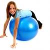 ลูกบอลโยคะ ป้องกันการระเบิด (Fitness Ball) ขนาด 45cm สีน้ำเงิน