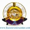 ของพรีเมี่ยม ของที่ระลึกไทย จานโชว์ แบบที่ 64 Size M เงินทอง-ม่วง